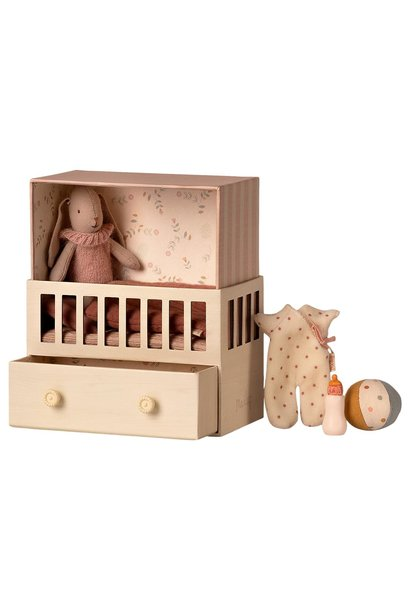 Maileg baby room with micro bunny rose