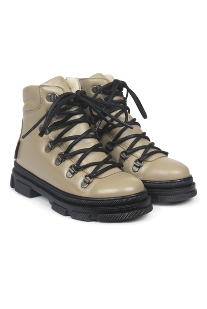 Angulus tex boots with laces and zipper beige