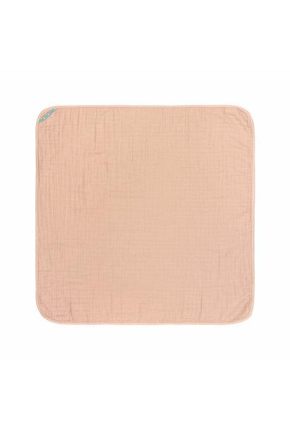 Lässig hooded towel muslin light pink