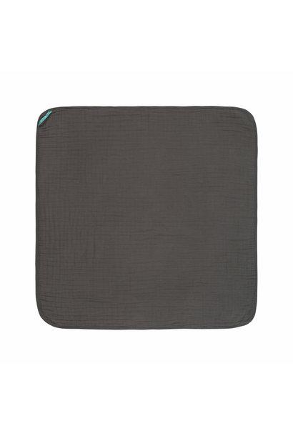Lässig hooded towel muslin anthracite