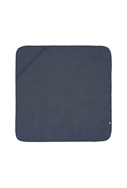 Lässig hooded towel muslin navy