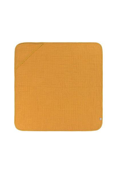 Lässig hooded towel muslin mustard