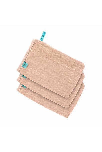 Lässig wash glove 3-pack light pink
