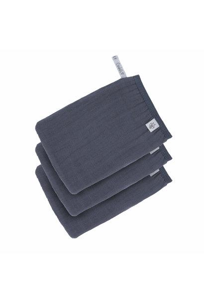 Lässig wash glove 3-pack navy