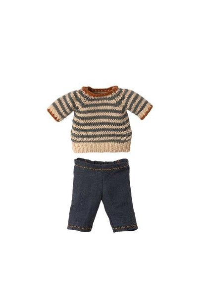 Maileg blouse and pants for teddy dad