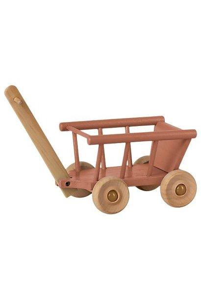 Maileg miniature wagon dusty rose