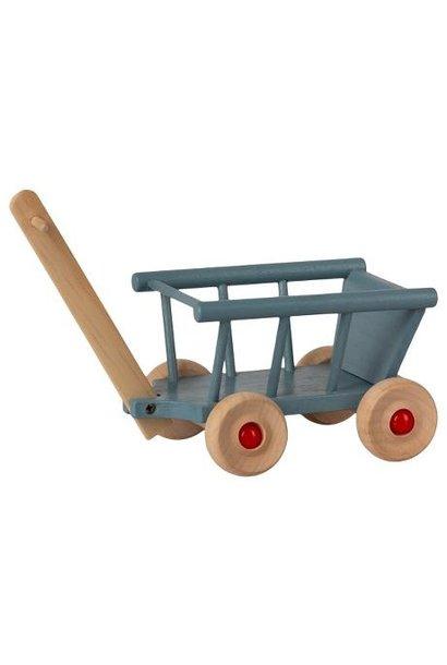 Maileg miniature wagon blue