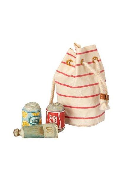 Maileg miniature bag with beach essentials