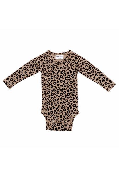 Maed for mini wrap body brown leopard