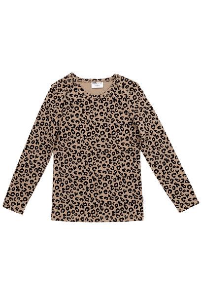 Maed for mini longsleeve brown leopard