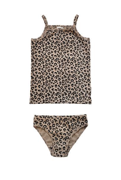Maed for mini underwear girls brown leopard
