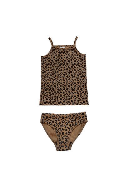 Maed for mini underwear girls chocolate leopard
