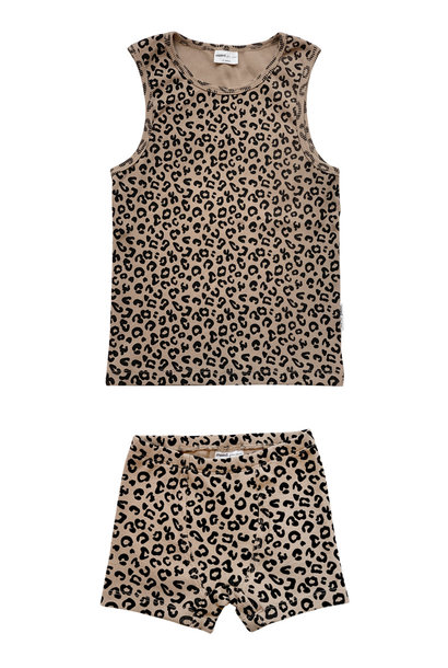 Maed for mini underwear boys brown leopard