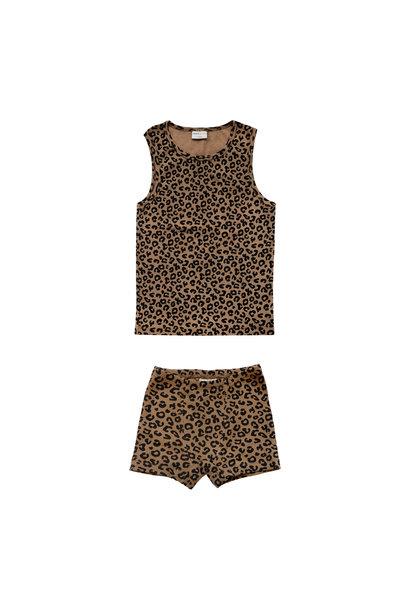 Maed for mini underwear boys chocolate leopard