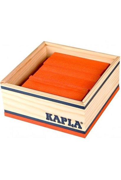 Kapla 40 stapelplankjes Oranje