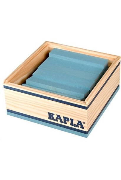 Kapla 40 stapelplankjes Licht blauw