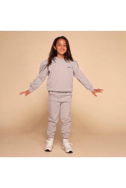&C x REVIVE joggingset puffed sleeve let's go light grey