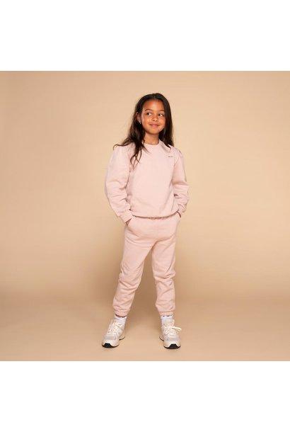 &C x REVIVE joggingset puffed sleeve take it slow blush pink