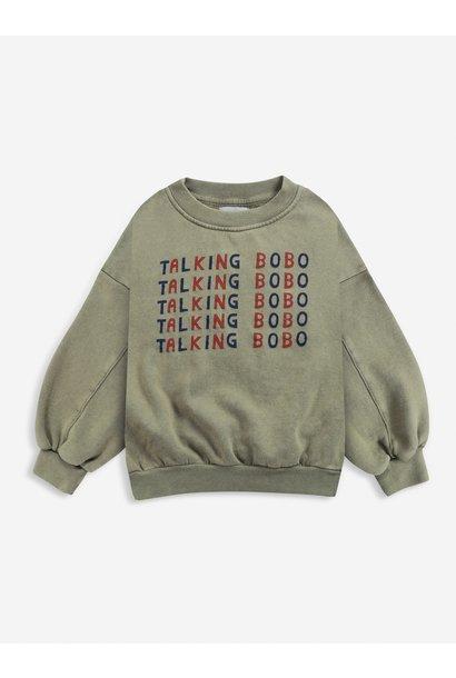 Bobo Choses sweater kids talking dried herb