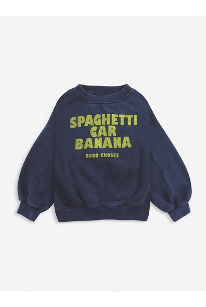 Bobo Choses sweater kids spaghetti twilight blue