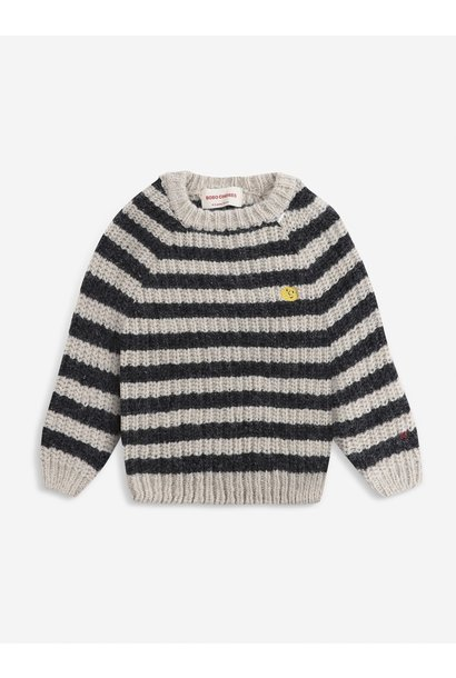 Bobo Choses knitted sweater kids december sky