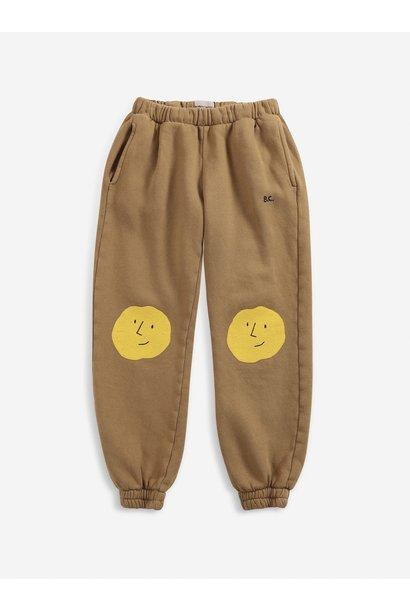 Bobo Choses jogging pants kids faces cinnamon