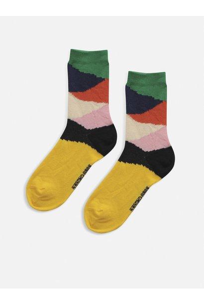 Bobo Choses socks kids multi color block fiesta