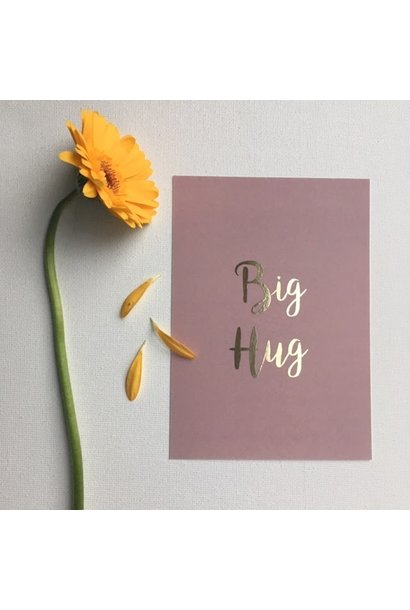 Mus & Bloem kaart big hug gold