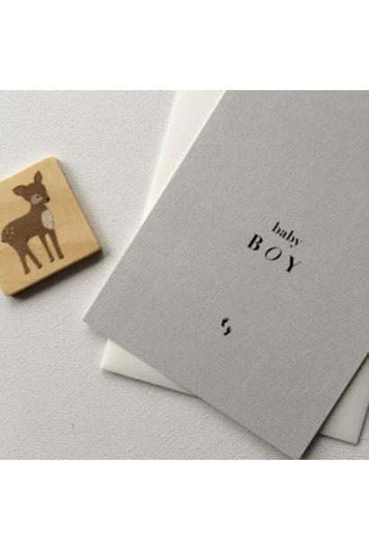 Mus & Bloem kaart baby boy voetjes