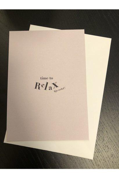 Mus & Bloem kaart time to relax fijn verlof