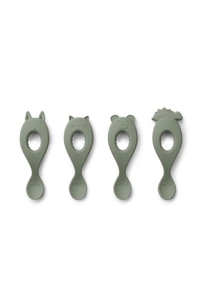 Liewood siliconen spoon liva faune green