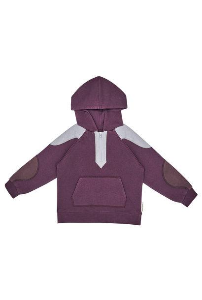 The New Society sweater dorian terry plum