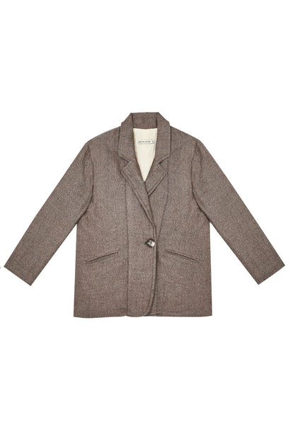 The New Society jacques quilted jacket chocolate