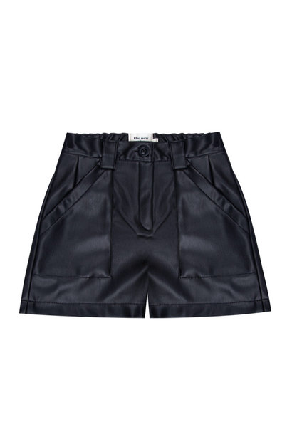The New Society short leather black