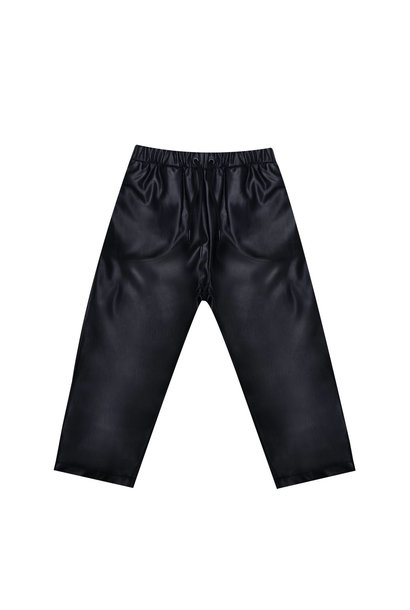 The New Society long pants leather black