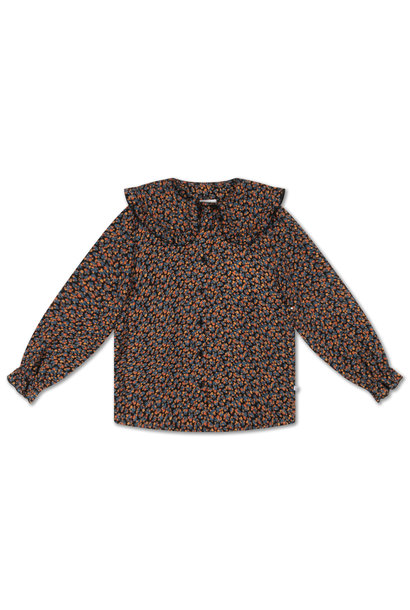 Repose collar blouse pop mini flower