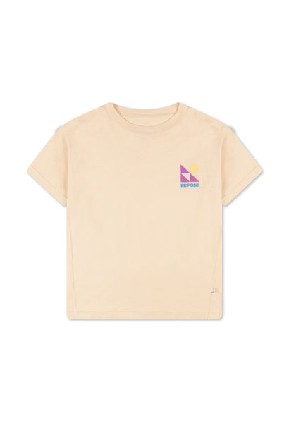 Repose t-shirt milky almond