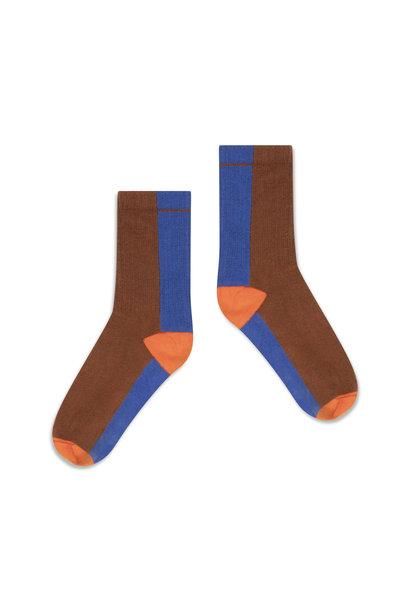 Repose socks chocolate color block