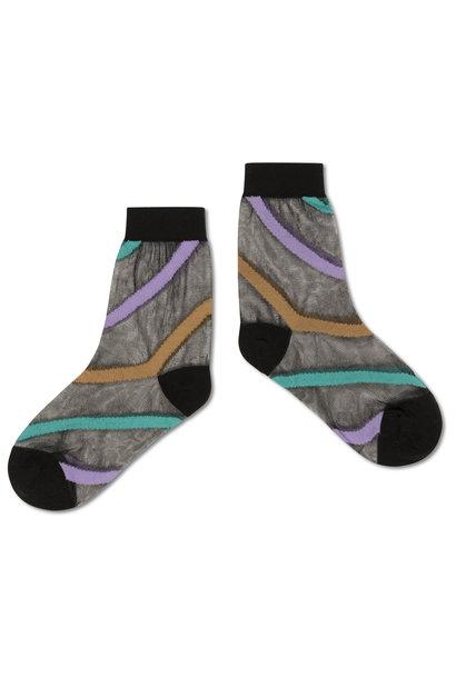 Repose socks diagonal stripe