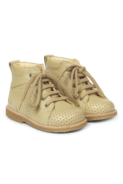 Angulus starter shoe with laces lime