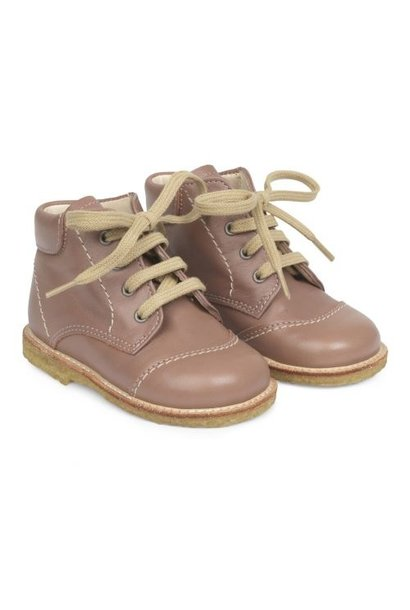 Angulus starter shoe with laces plum