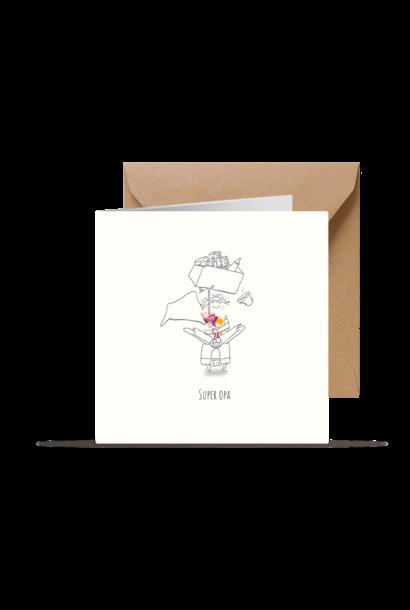 Kleintjesgeluk kaart bas & janne super opa