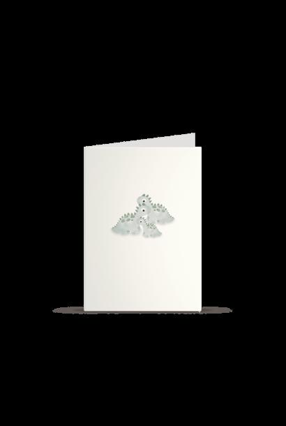Kleintjesgeluk kaart bommel & puk dino