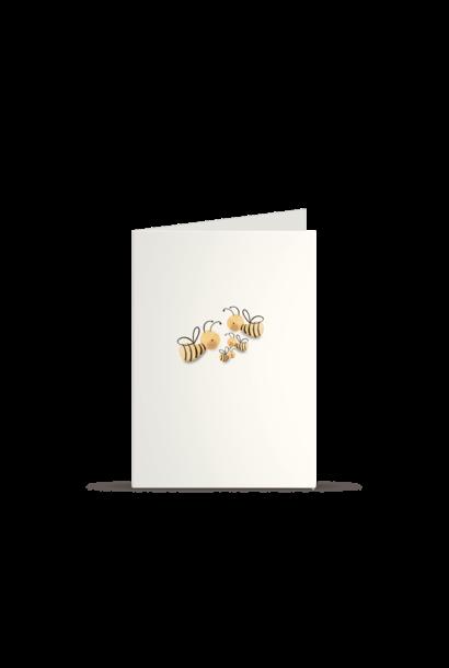 Kleintjesgeluk kaart bommel & puk bijtjes