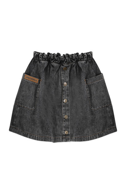 Ammehoela denim skirt flynn black washed