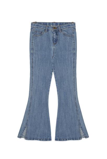 Ammehoela flared pants liv denim blue washed