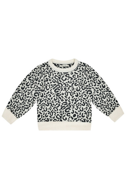 The New Society jumper rose leopard