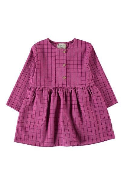 Piupiuchick dress checkered fuchsia