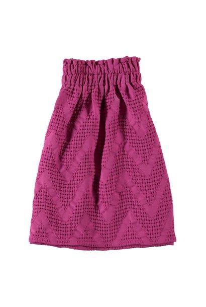 Piupiuchick long skirt waffle fuchsia