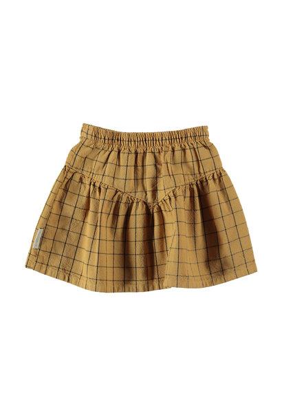 Piupiuchick skirt checkered camel